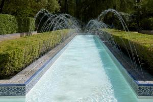 Water Canal and Waterworks in Maria Luisa Park, Seville, Andalusia, Spain, Europe by Guy Thouvenin