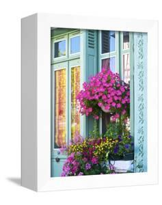 Window With Flowers, France, Europe by Guy Thouvenin