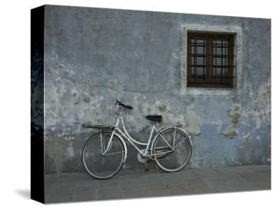 Bicycle Against Chipped Wall