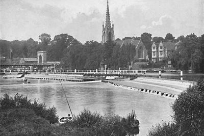 'Bridge and Weir at Great Marlow', c1896