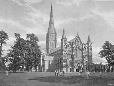 'Salisbury Cathedral: West Front', c1896