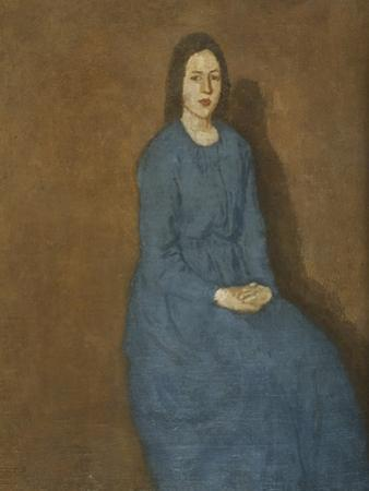 A Young Woman in Blue, C.1914-15 by Gwen John