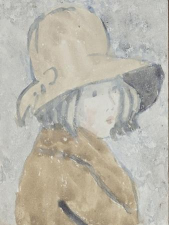 Study of a Little Girl in a Wide Brimmed Hat by Gwen John