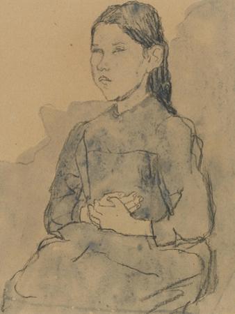 Young Girl: Marie Hamonet, C.1918 by Gwen John