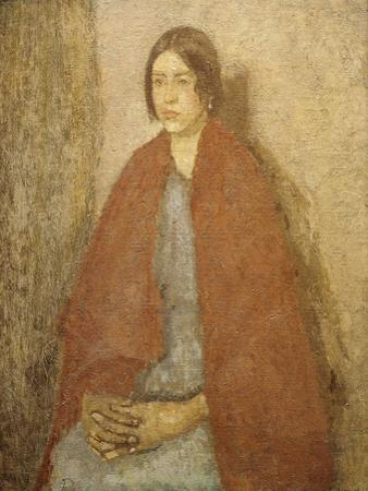 Young Woman in a Red Shawl by Gwen John