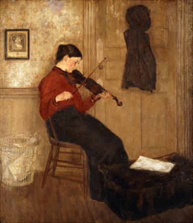 Young Woman with a Violin by Gwen John