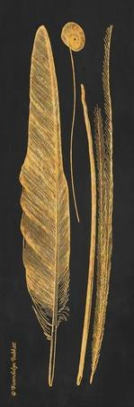 Gold Feathers III by Gwendolyn Babbitt