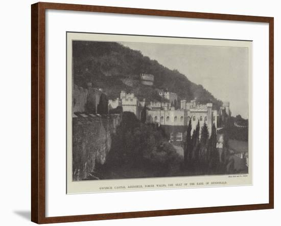 Gwyrch Castle, Abergele, North Wales, the Seat of the Earl of Dundonald--Framed Giclee Print