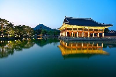 Gyeonghoeru Pavilion, Gyeongbokgung Palace, Seoul-Robert Koehler-Photographic Print