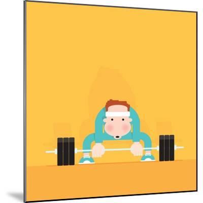 Gym Junkie-Nick Diggory-Mounted Giclee Print