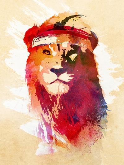 Gym Lion-Robert Farkas-Art Print