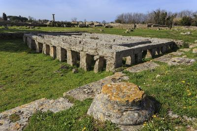 Gymnasium with Swimming Pool, Paestum, Ancient Greek Archaeological Site, Campania, Italy-Eleanor Scriven-Photographic Print