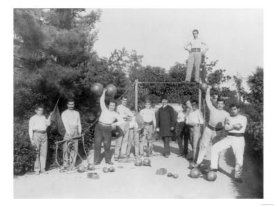 Gymnastic Exercises in Istanbul Photograph - Istanbul, Turkey-Lantern Press-Art Print