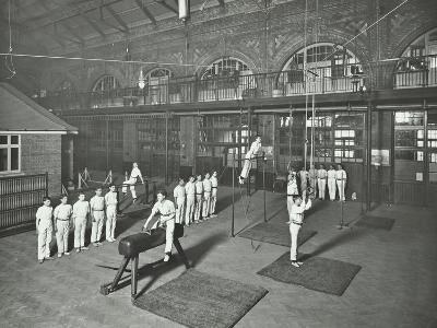 Gymnastics by Male Students, School of Building, Brixton, London, 1914--Photographic Print