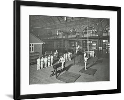 Gymnastics by Male Students, School of Building, Brixton, London, 1914--Framed Photographic Print