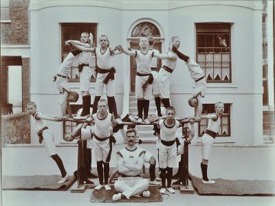 Gymnastics Display at the Boys Home Industrial School, London, 1900--Photographic Print