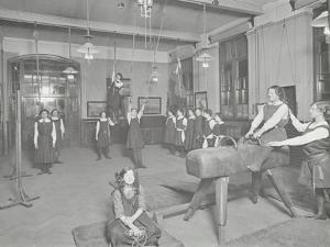 Gymnastics Lesson, Laxon Street Evening Institute for Women, London, 1914