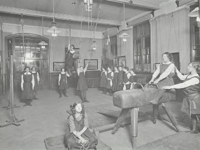 Gymnastics Lesson, Laxon Street Evening Institute for Women, London, 1914--Photographic Print