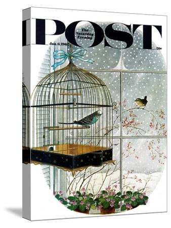 """Birdtalk,"" Saturday Evening Post Cover, January 6, 1962"