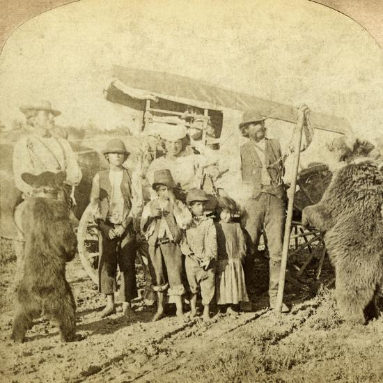 Gypsies and Dancing Bears on the Road-Underwood & Underwood-Photographic Print