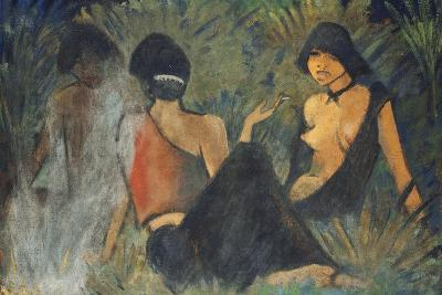 Gypsies by the Campfire (Recto); Zigeunerinnen Am Lagerfeuer (Recto), c.1927-Otto Muller or Mueller-Giclee Print