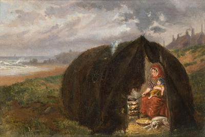 Gypsies Camped on the Beach, Near South Shields, 1876-Ralph Hedley-Giclee Print