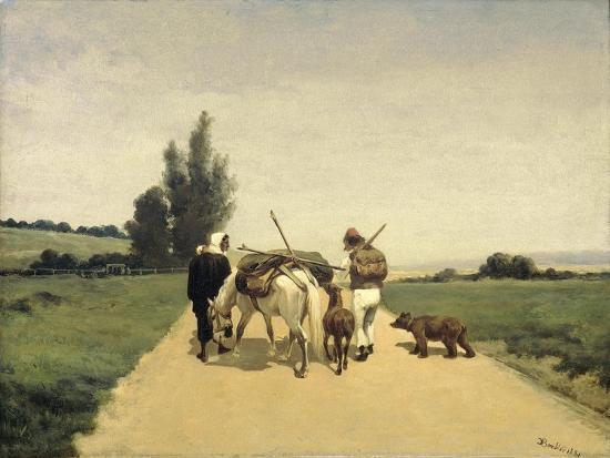 Gypsies on the Road-Karel Frederik Bombled-Art Print