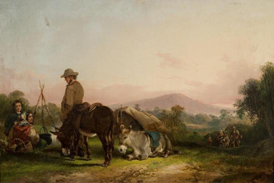Gypsy Encampment-William Snr. Shayer-Giclee Print