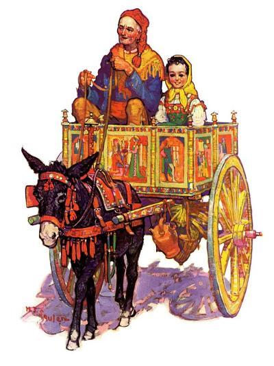 """Gypsy Wagon,""May 2, 1936-Henry Soulen-Giclee Print"