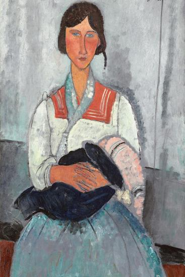Gypsy Woman with Baby, 1919-Amedeo Modigliani-Giclee Print