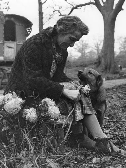 Gypsy woman with dog, 1960s-Tony Boxall-Photographic Print