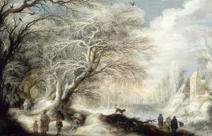 Paysage de neige by Gysbrecht Lytens