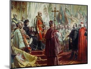 Emperor Franz Joseph I and Empress Elizabeth in Budapest, 8th July 1896 by Gyula Benczur