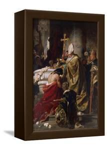 The Baptism of Vajk by Gyula Benczur