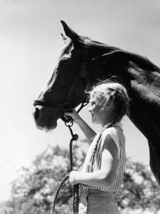 Girl and Horse by H^ Armstrong Roberts