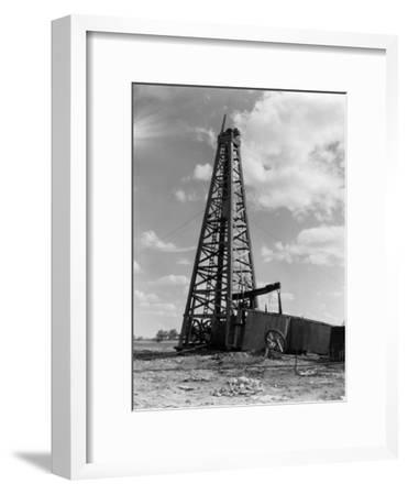 Oil Well With Wooden Derrick, Near Houston, Texas