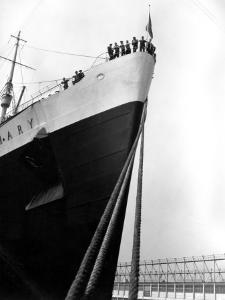 Prow of the Queen Mary, Showing the Mooring Ropes in the Foreground by H. Armstrong Roberts