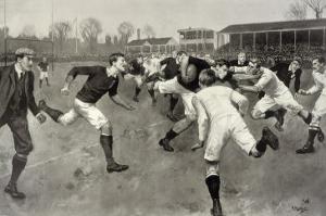 England Versus Ireland at Richmond by H. Burgess