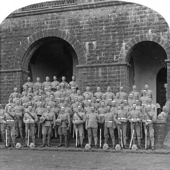 H Company, Royal Warwickshire Regiment, Belgaum, India, 1900s-Underwood & Underwood-Giclee Print