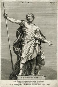 St Longinus, Martyr, 1696 by H Frezza