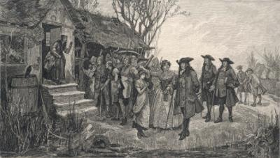 An Old English Cottage Woman is Accused of Witchcraft by Fellow Villagers