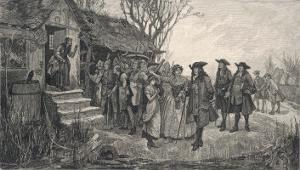 An Old English Cottage Woman is Accused of Witchcraft by Fellow Villagers by H.g. Glindoni