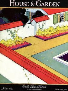 House & Garden Cover - July 1924 by H. George Brandt