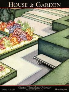 House & Garden Cover - June 1929 by H. George Brandt