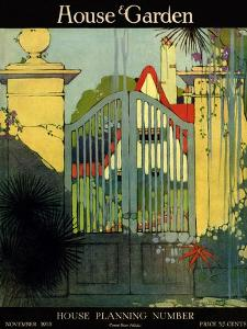 House & Garden Cover - November 1918 by H. George Brandt
