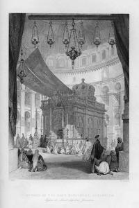 The Church of the Holy Sepulchre, Jerusalem, Israel, 1841 by H Griffiths