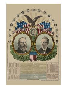 National Republican Chart 1876 by H. H. Lloyd