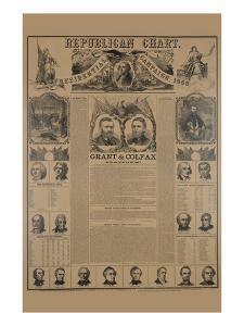 Republican Chart. Presidential Campaign, 1868 by H. H. Lloyd