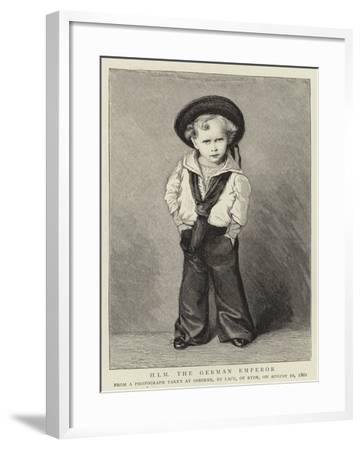 H I M the German Emperor--Framed Giclee Print