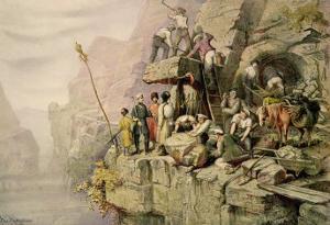 A Stone Quarry, 1833 by H. Kretzschmer